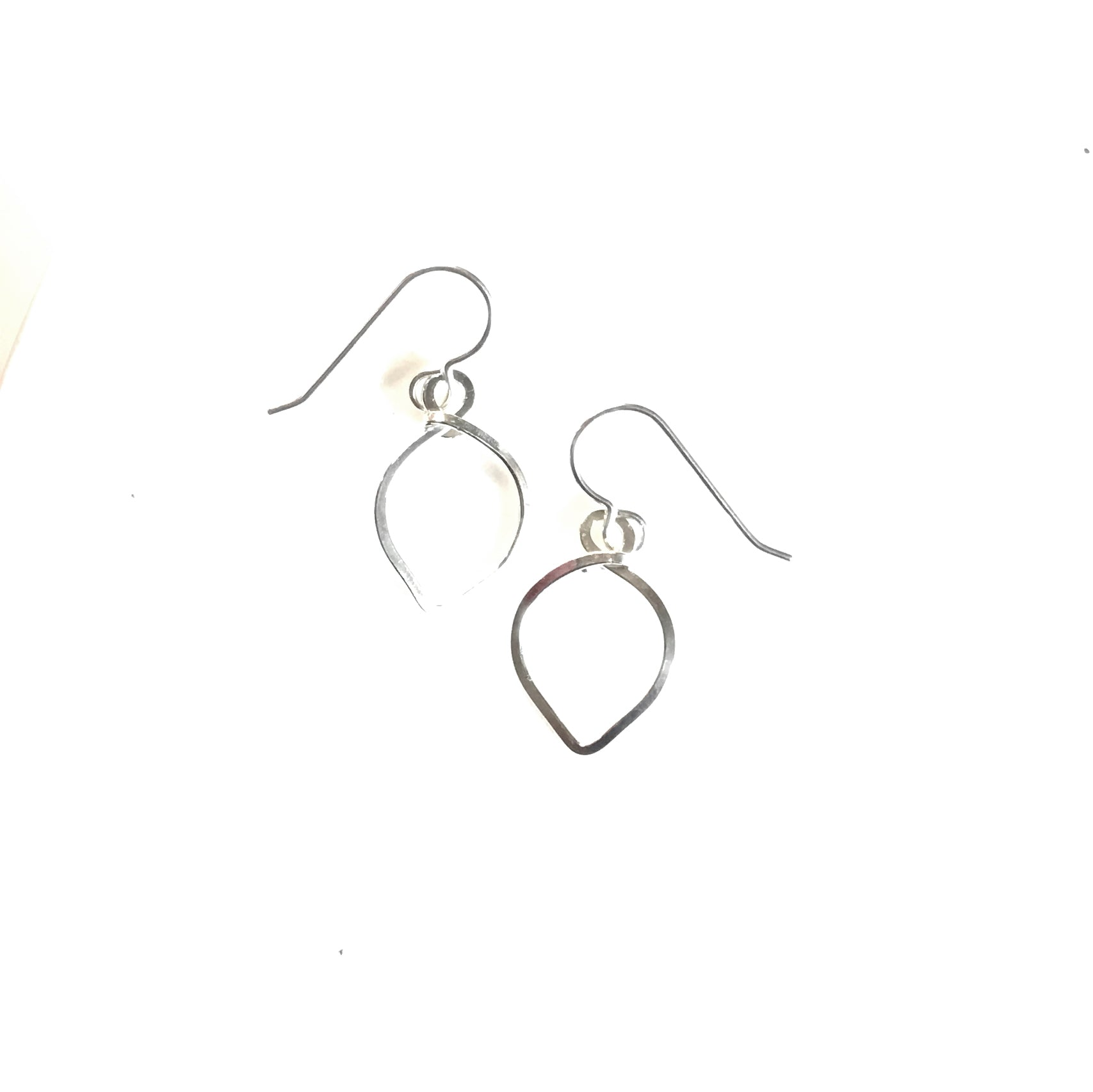 Lotus Petal Drop Earrings available in Sterling Silver, Rose Gold, Yellow Gold, Copper, Bronze