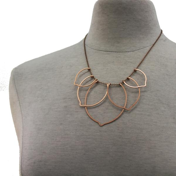 Lotus Blossom Necklace available in Sterling Silver, Rose Gold, Yellow Gold, Copper, Bronze
