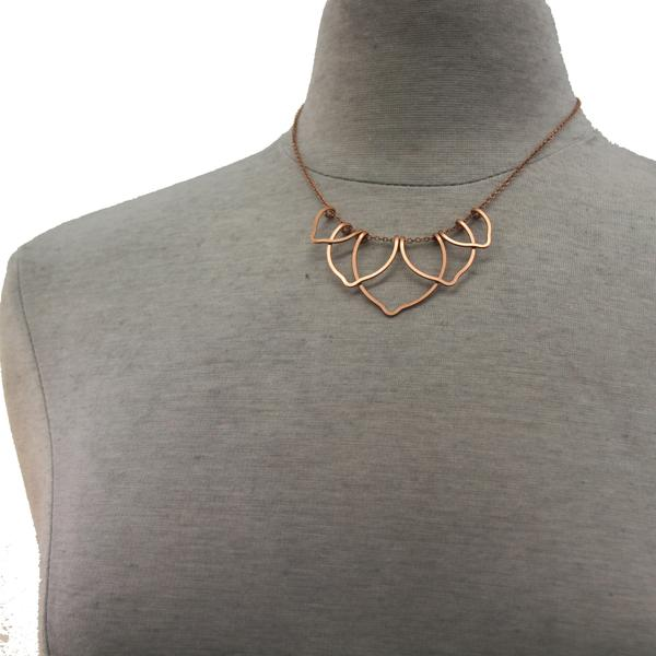 Petite Lotus Blossom Necklace available in Sterling Silver, Rose Gold, Yellow Gold, Copper, Bronze