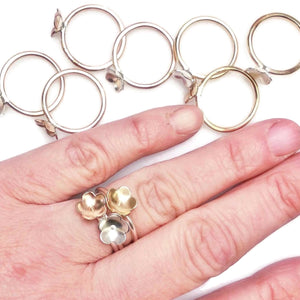 Single Blossom Stacking Ring