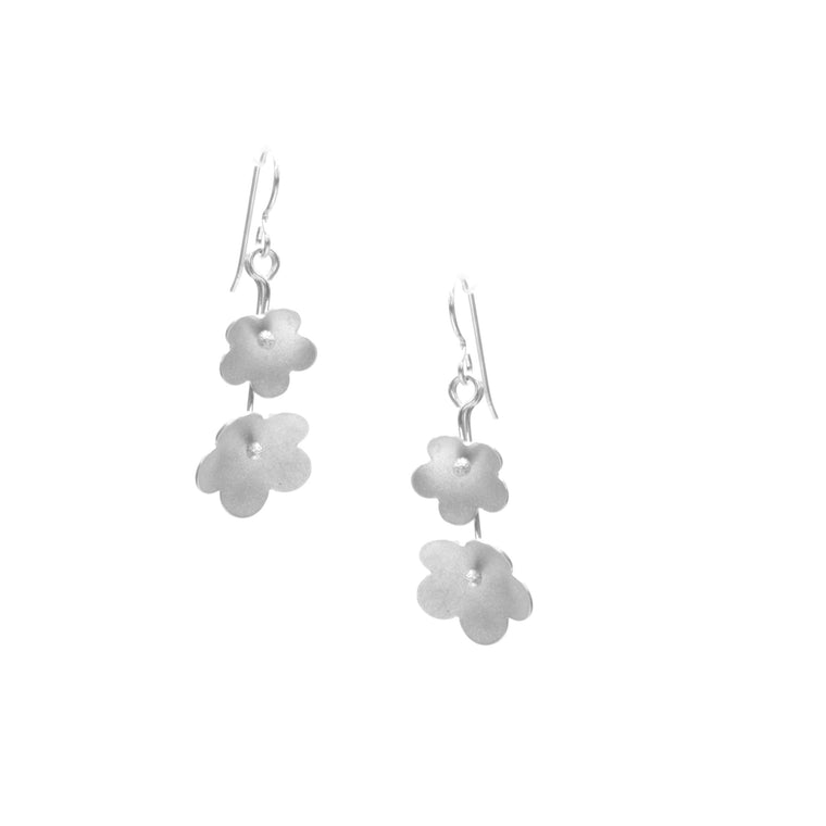 Forget-Me-Not Earrings, Double Blossom Drop