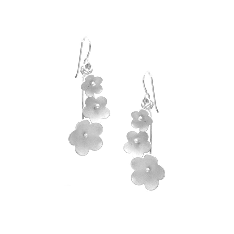 Forget-Me-Not Earrings, Triple Blossom Drop