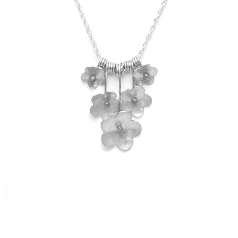 Forget-Me-Not Bouquet Necklace, Petite
