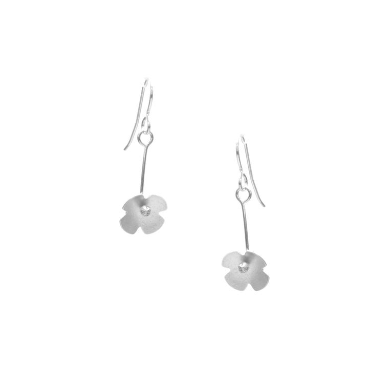 Hydrangea Earrings, Single Blossom Drop