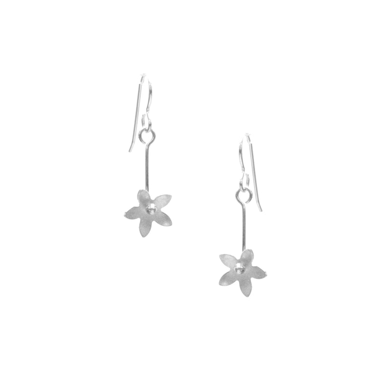 Jasmine Earrings, Single Blossom Drop