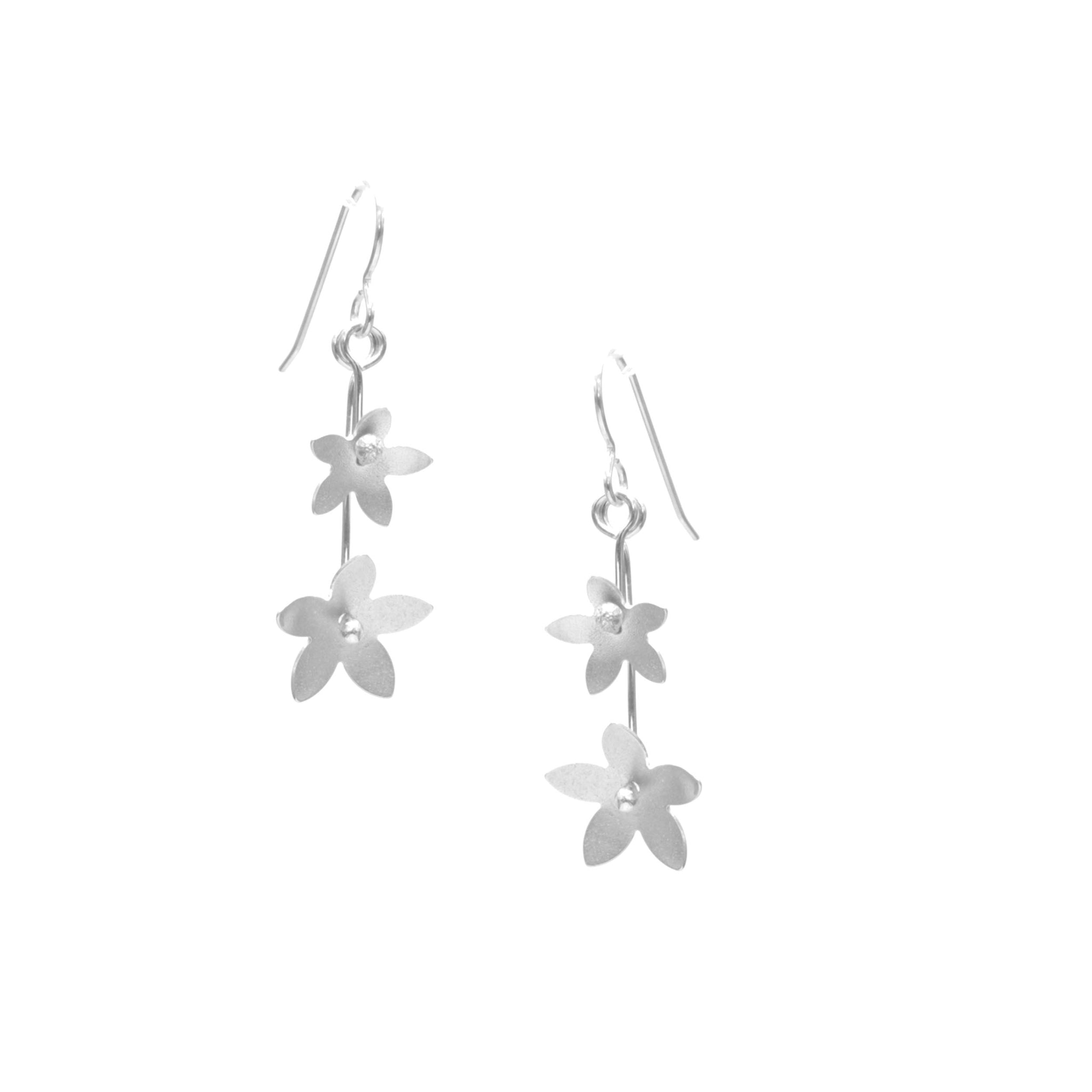 Jasmine Earrings, Double Blossom Drop