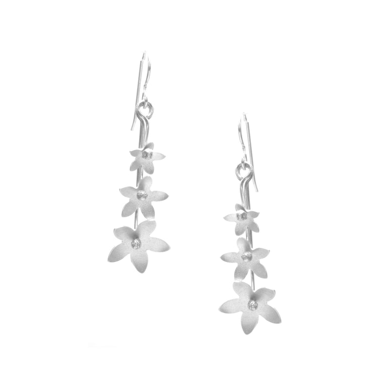 Jasmine Earrings, Triple Blossom Drop