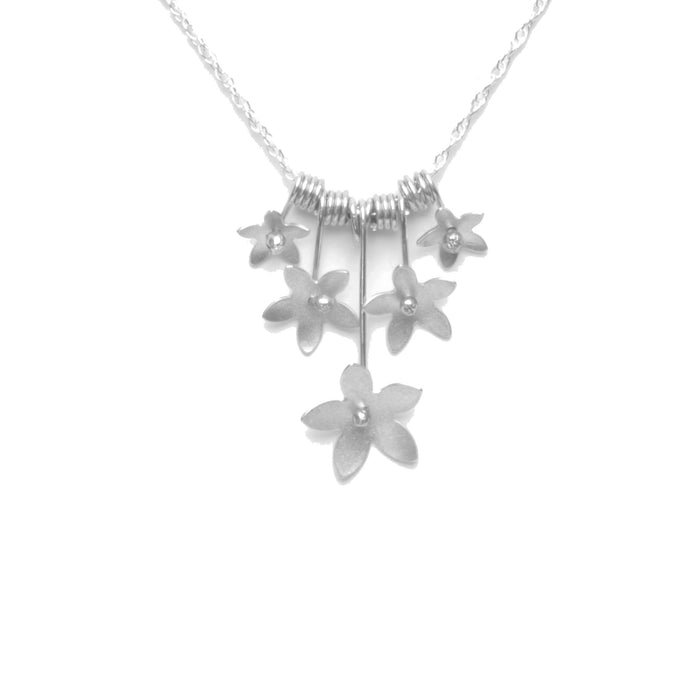 Jasmine Blossom Bouquet Necklace, Petite