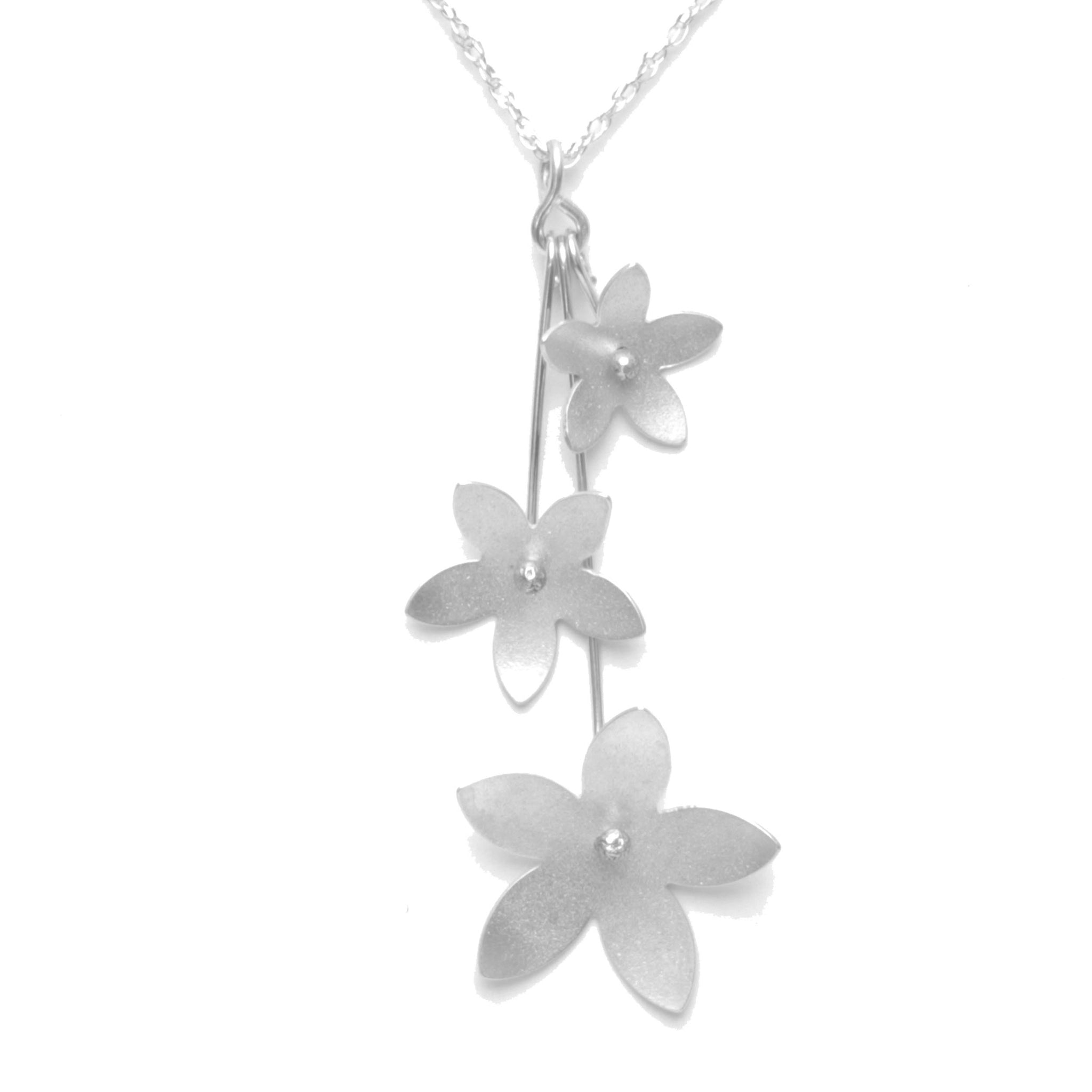 Jasmine Blossom Trinity Necklace