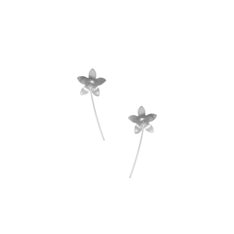 Jasmine Earrings, Single Blossom Stick
