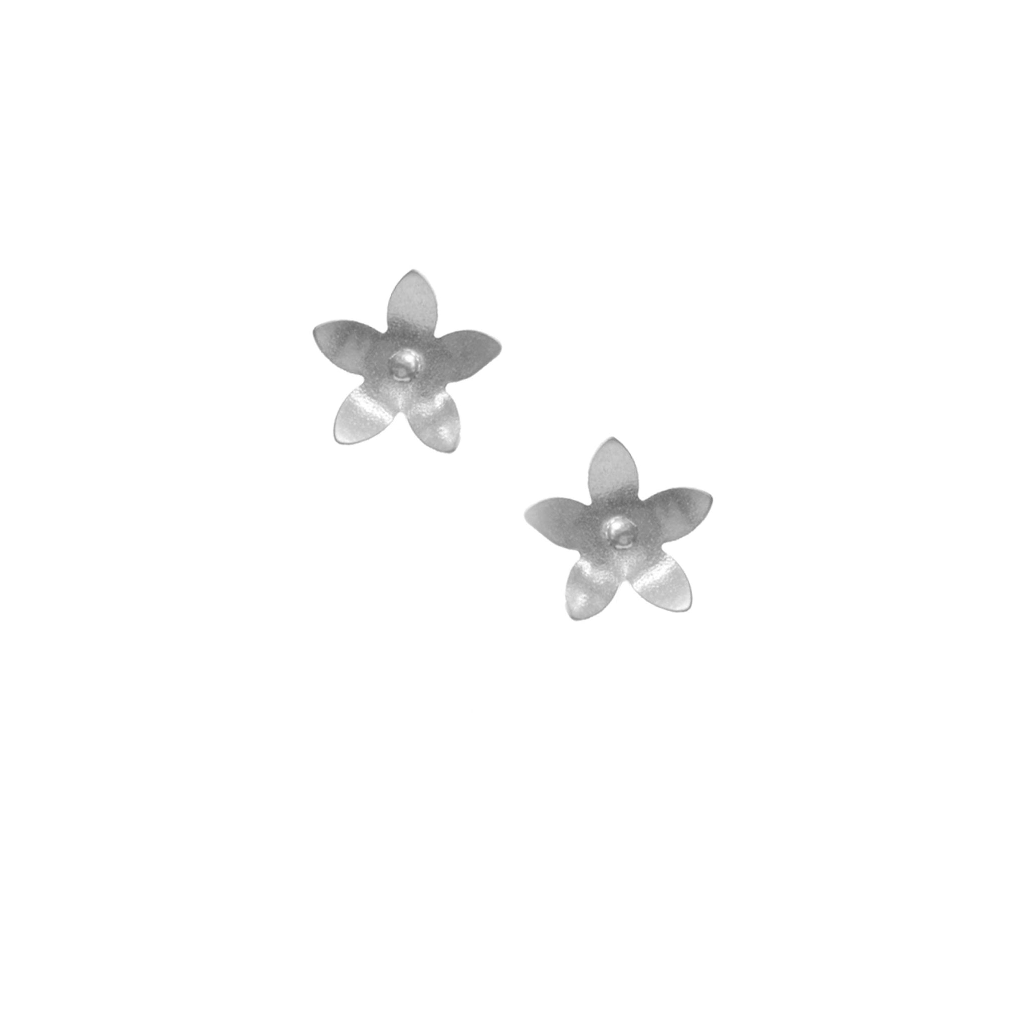 Jasmine Earrings, Single Blossom Stud