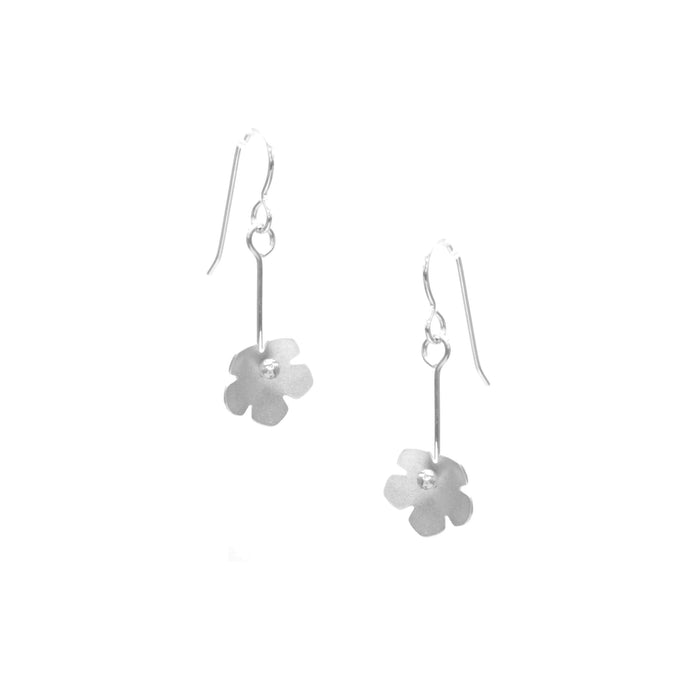 Wild Strawberry Earrings, Single Blossom Drop