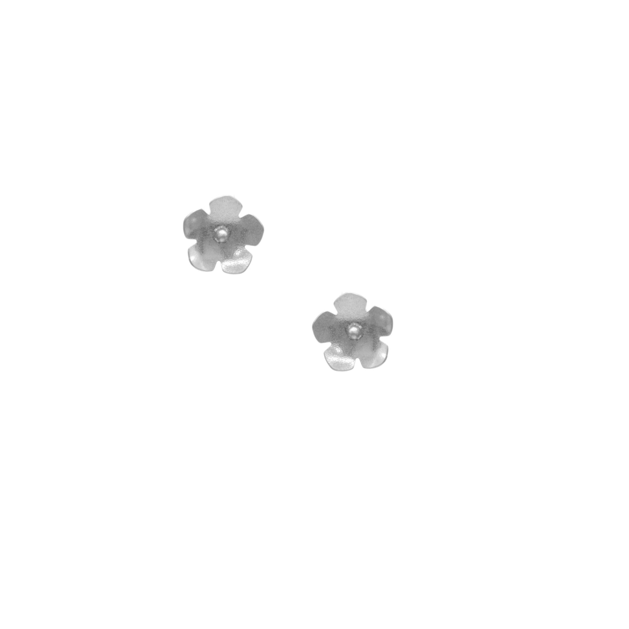 Wild Strawberry Earrings, Petite Single Blossom Stud
