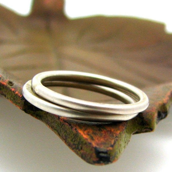 Sterling Silver Stacking Ring, Smooth Texture