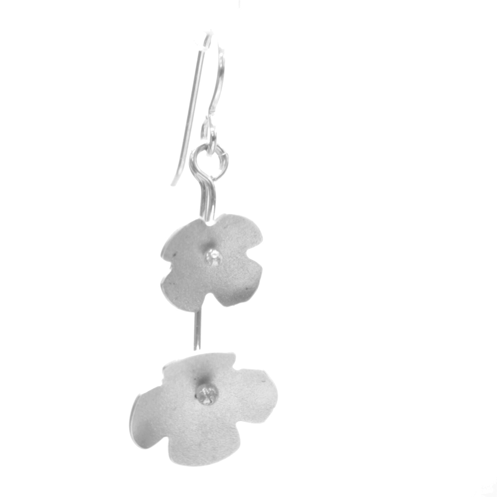 Hydrangea Earrings, Double Blossom Drop