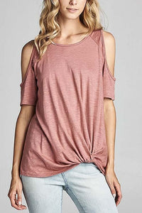 Mauve Cold Shoulder