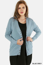 Load image into Gallery viewer, Curvy Collection Snap Front Cardigan