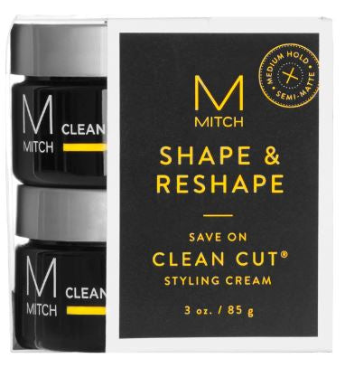 John Paul Mitchell Systems Mitch - Clean Cut Medium Hold Styling Cream Duo