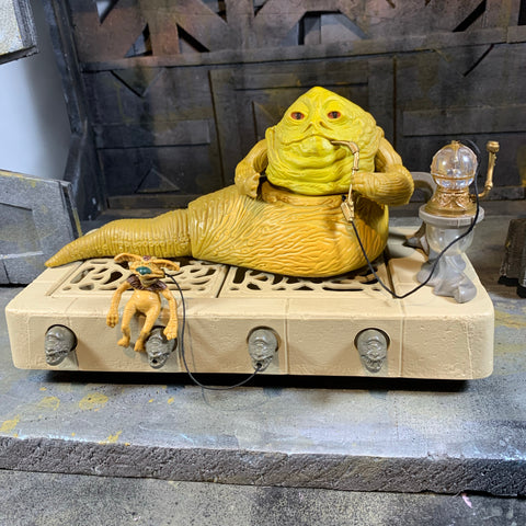 $120 Vintage JABBA the HUTT on Throne w/ Solacious Crumb