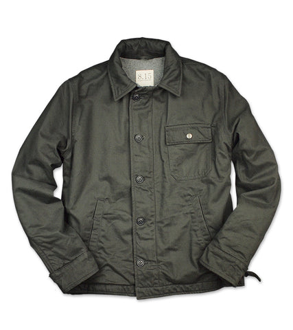 WOOL LINED DECK JACKET <br/> Charcoal