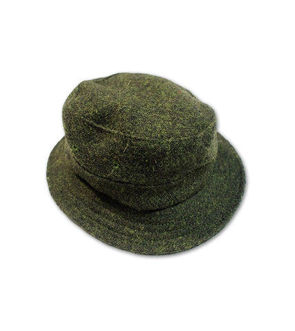 "Bucket Hat<br/>   ""Harris Tweed"" Moss"