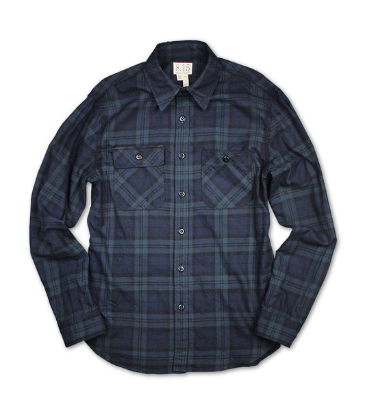 ENGINEER WORK SHIRT <br/> Black Watch Plaid