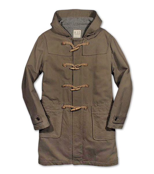 WOOL LINED DUFFEL COAT <br/> Bedford Cord O.D.