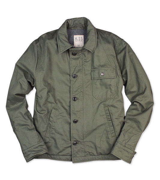 WOOL LINED DECK JACKET <br/> Olive