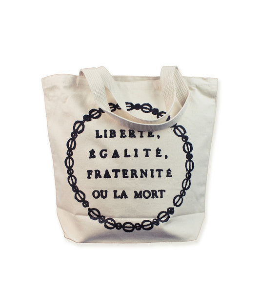 BOOK TOTE - French Motto <br/>  Natural