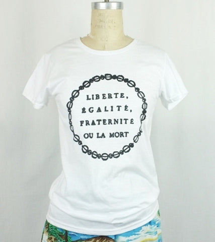 WOMEN'S MOTTO T  <br/> White