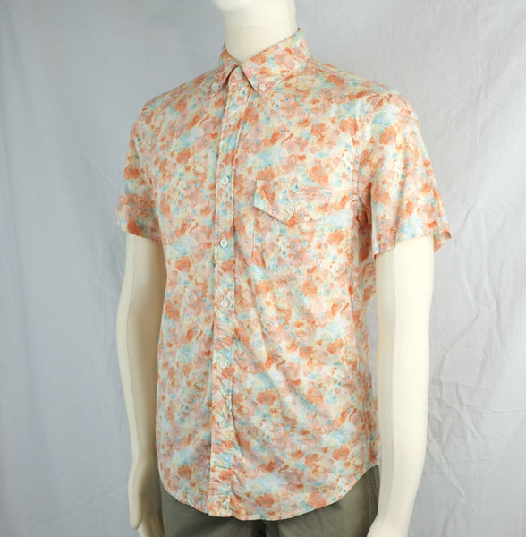 PRINTED COTTON SHORT-SLEEVE SHIRT <br/>  Pastel Flower