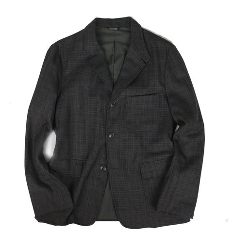 FITTED SPORT COAT <br/> Grey Mix Plaid