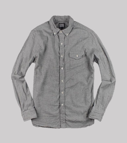 NATURAL FIT B.D. L/S    <br/> French Flannel/ Heather Grey