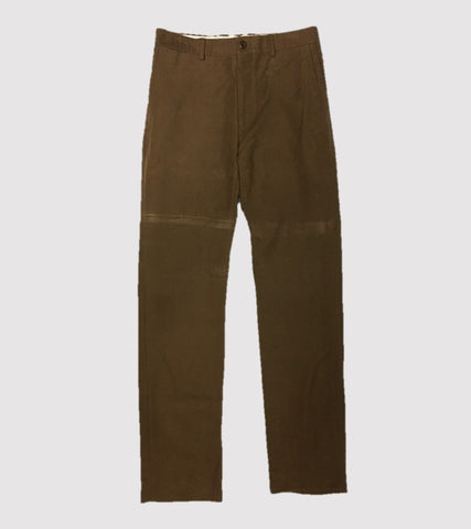 HAND TAILORED SLIM PANT <br/> Moleskin Chestnut