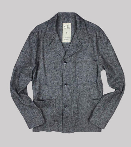 SPRING WEIGHT WOOL SHOP COAT <br/> Grey Wool