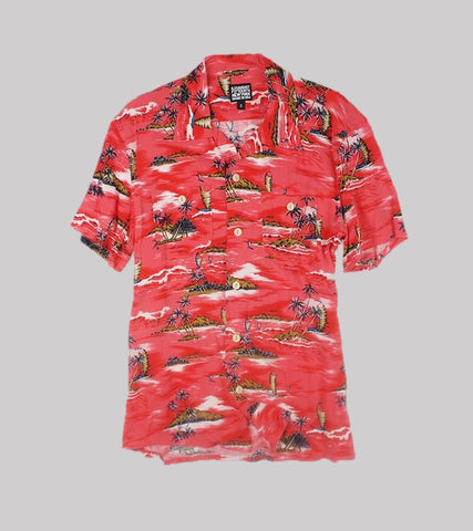 HAWAIIAN SHIRT <br/>   Rayon Red Hawaii