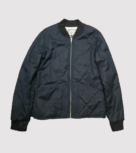 NEW YORK QUILTED JACKET<br/> Wool Flannel Midnight