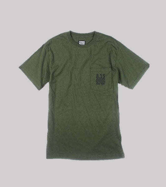 LOGO POCKET T  <br/> Army Green