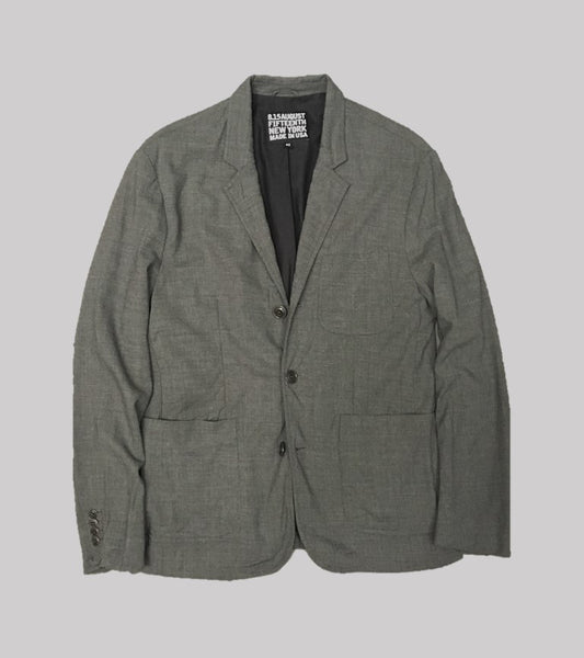 WASHED WOOL SPORT COAT <br/> Wool Grey