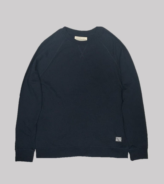 RAGLAN CREW  <br/> Navy French Terry