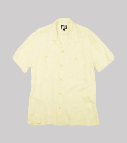 CAMP COLLAR RAYON SHIRT <br/>   Beige