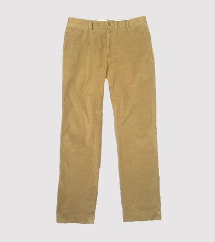 CORDUROY HAND TAILORED PANT <br/> Chestnut Corduroy