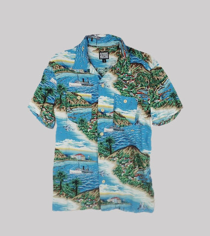 HAWAIIAN SHIRT <br/>   Rayon Blue Hawaii