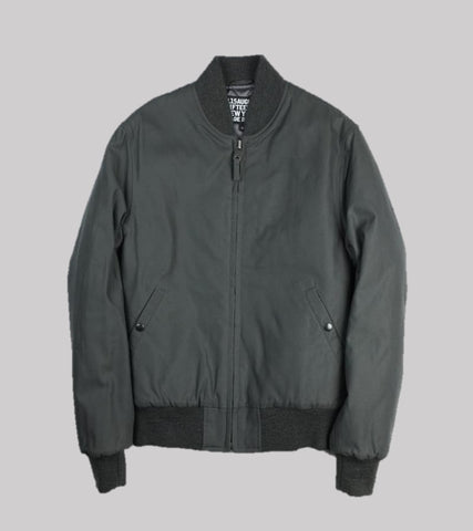 COTTON BOMBER JACKET<br/> Grey