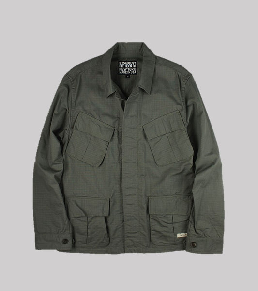 BDU JUNGLE JACKET <br/> Sage Ripstop