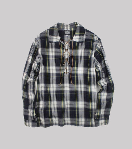LACE-UP SHIRT <br/>   Tartan Plaid