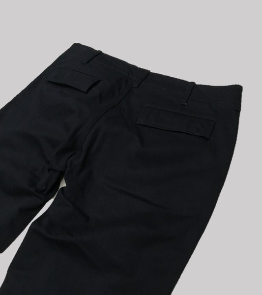 SLIM WORK PANT <br/> Navy Herringbone Twill