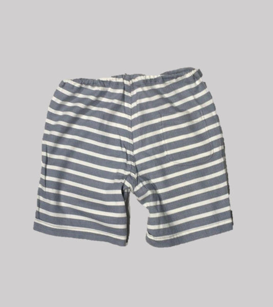 POOLSIDE SHORT <BR/> Nautical Gray / White Stripe