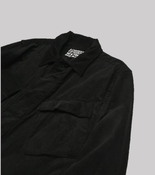 CORDUROY JUNGLE JACKET <br/> Black Corduroy