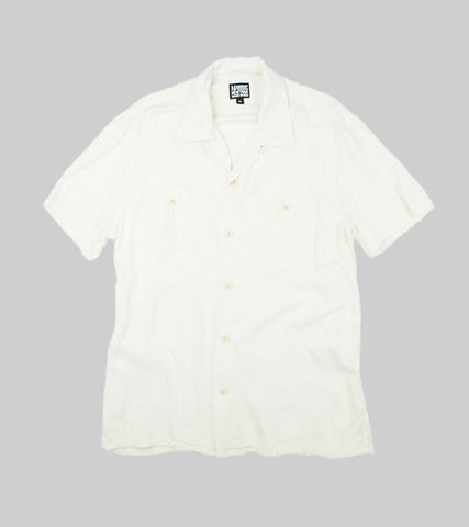 CAMP COLLAR RAYON SHIRT <br/>   Off White
